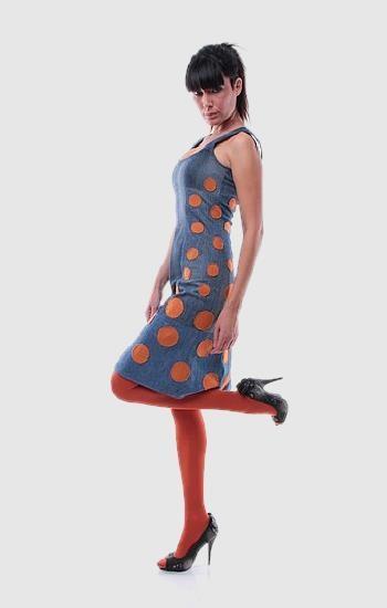 Pöttyös retro ruha - Rethy Fashion