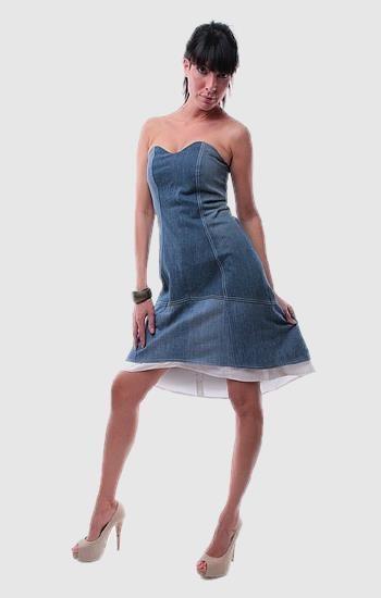Kék alkalmi ruha - Rethy Fashion
