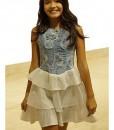 Világoskék pörgős kislányruha - Rethy Fashion