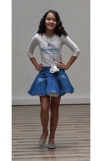 Alsószoknyás pörgős szoknya - Rethy Fashion