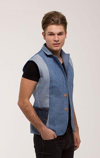 Férfi mellény kék - Rethy Fashion