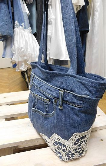 Csipkés farmertáska - Rethy Fashion