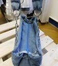 Csíkos-láncos farmertáska - Rethy Fashion